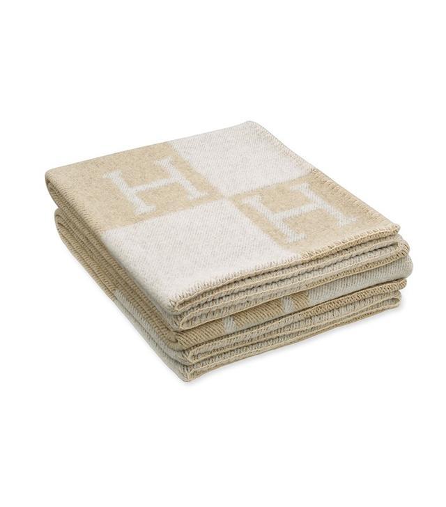 Hermès Avalon Blanket in Coconut/Chamomile