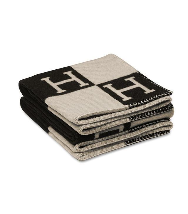 Hermès Avalon Blanket in Ecru/Black