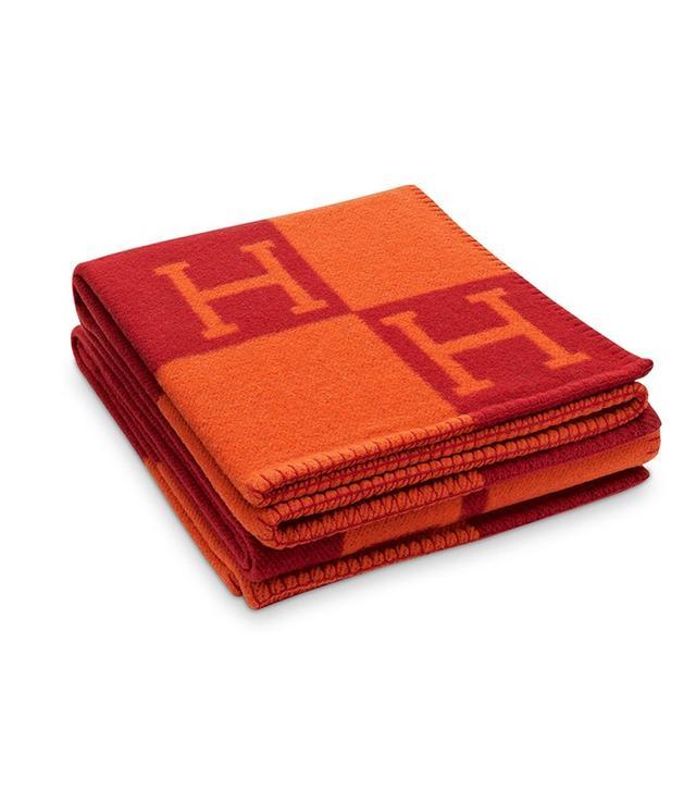 Hermès Avalon Blanket in Vermilion/Red