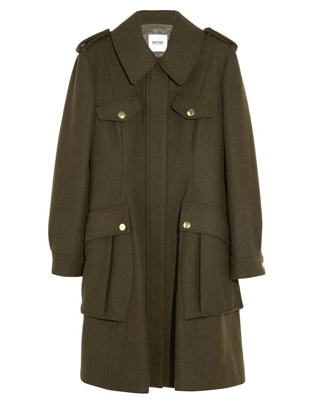 Boutique Moschino Wool-Blend Felt Coat