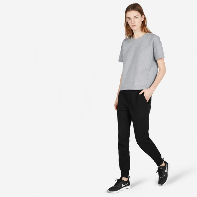 Everlane Street Fleece Pants in Black