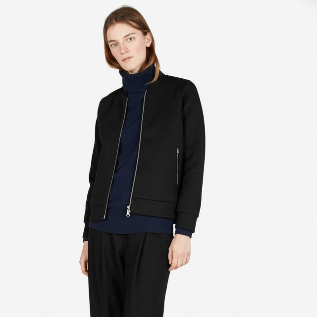 Everlane Street Fleece Bomber in Black