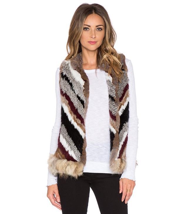 Elizabeth and James Tanya Coyote and Rabbit Fur Vest