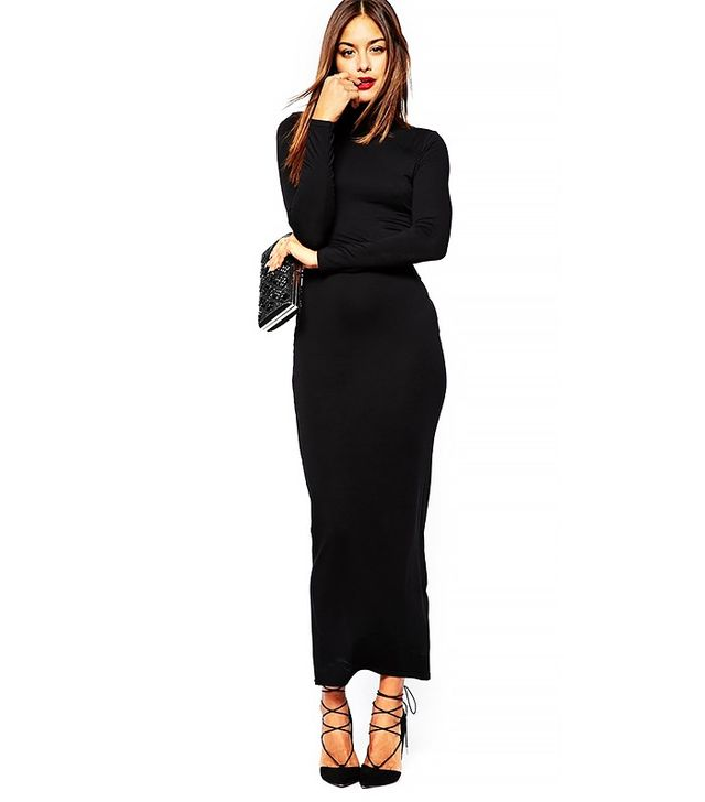 Missguided High Neck Long Sleeve Maxi Dress