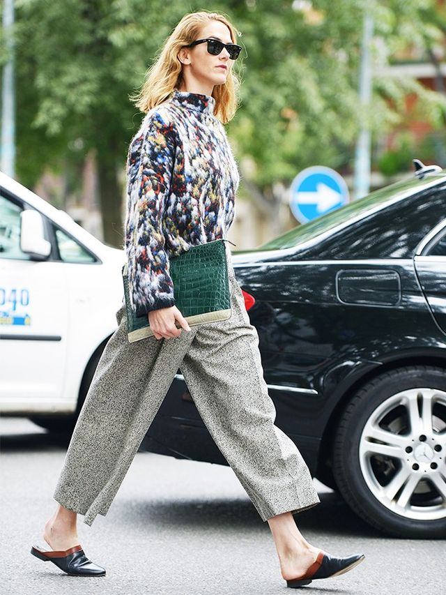 The Street Style Guide To Dressing Up Your Flats Whowhatwear Au