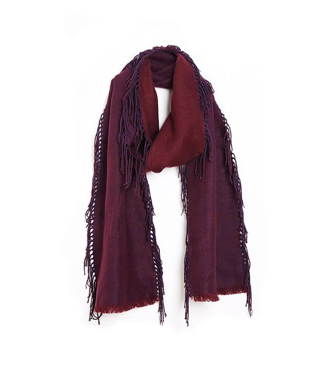 ASOS Reversible Long Scarf With Side Fringe