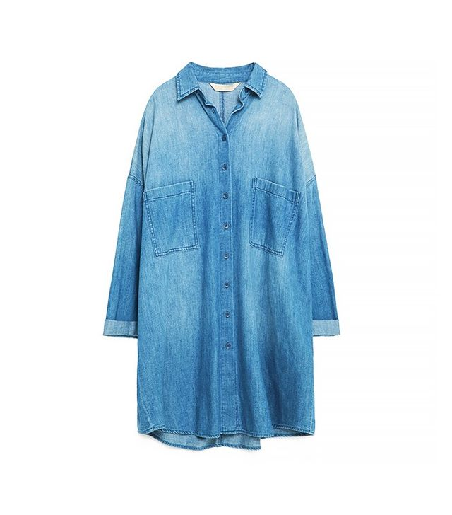 Zara Oversized Denim Shirt