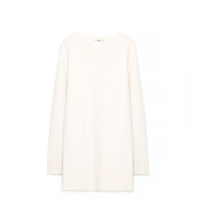 Zara Round Neck Sweater Dress