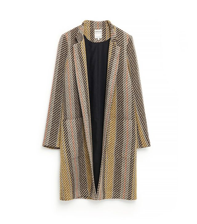 Zara Striped Jacquard Coat
