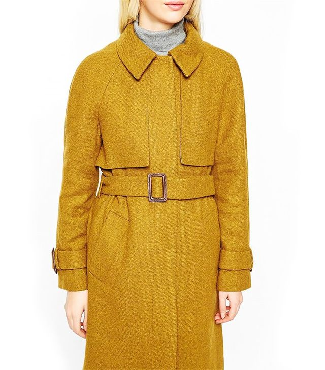 ASOS Coat With Trench Details in Wool