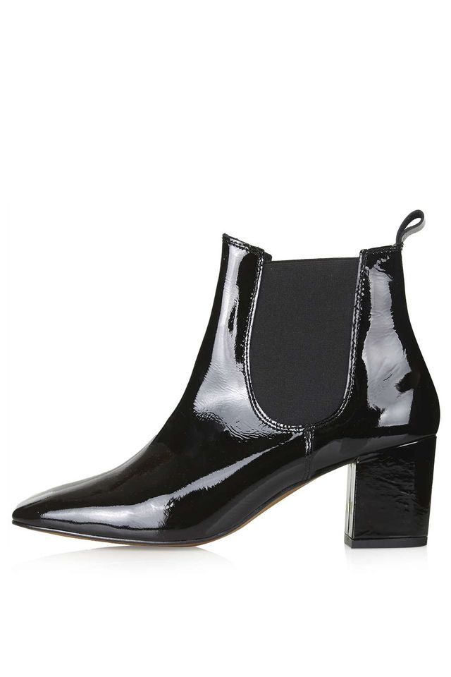 Topshop Mary '60s Patent Chelsea Boots
