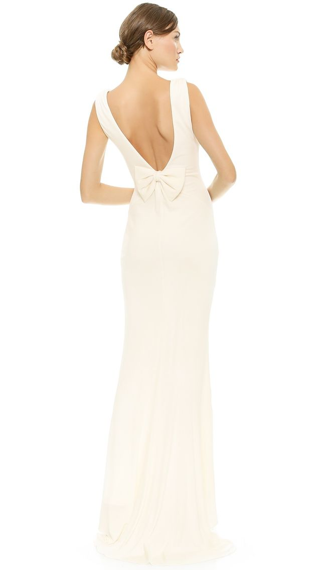 Badgley Mischka Bow Back Gown