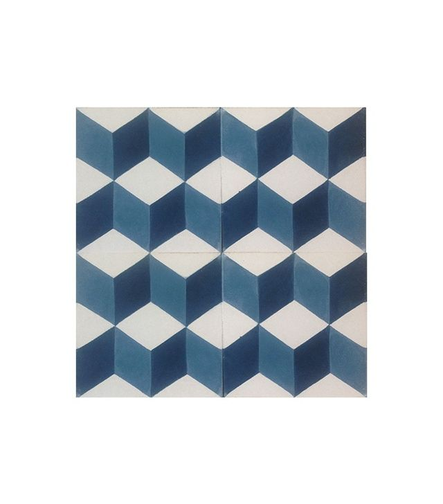 Encaustic Tiles Geometric Midnight Blue Encaustic Tile