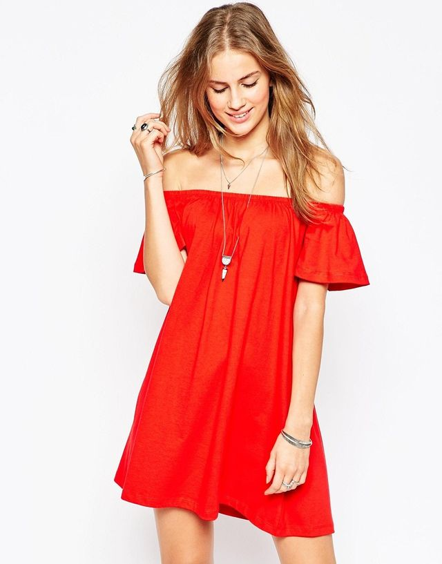 ASOS Gypsey Off Shoulder Mini Dress