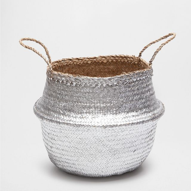 Zara Home Silver Basket with Handles