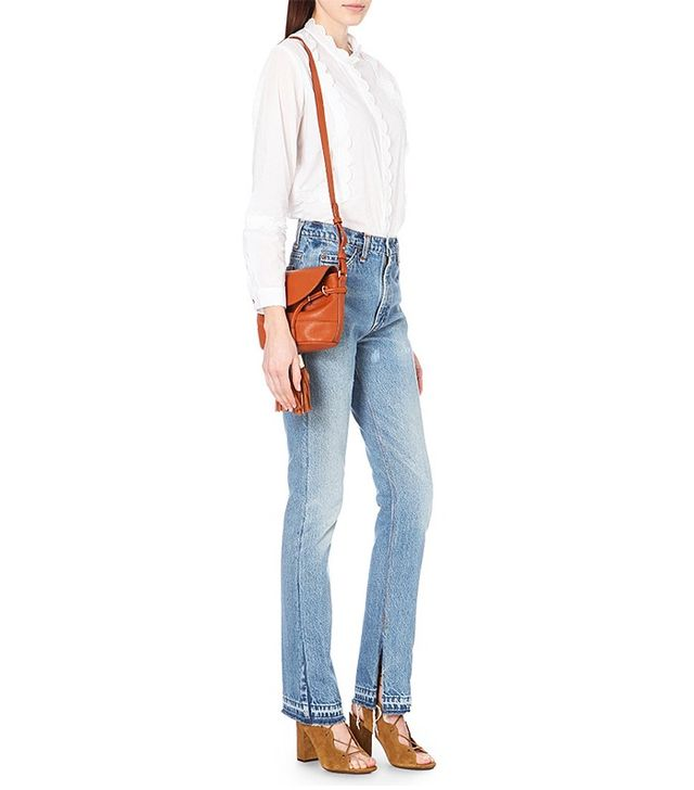 Re/Done Straight High Rise Jeans