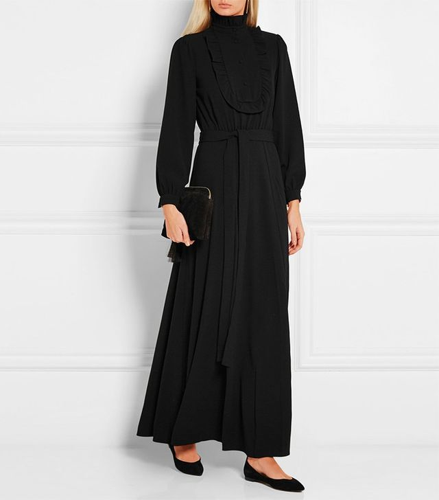 Co Ruffled Crepe Maxi Dress
