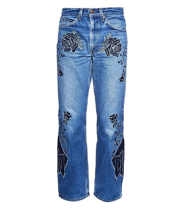 Bliss & Mischief Shadows of Mountains Low-Slung Boyfriend Jeans