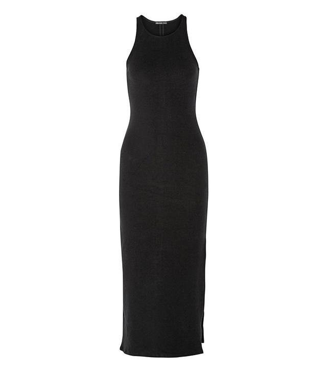 James Perse Stretch-Fleece Midi Dress