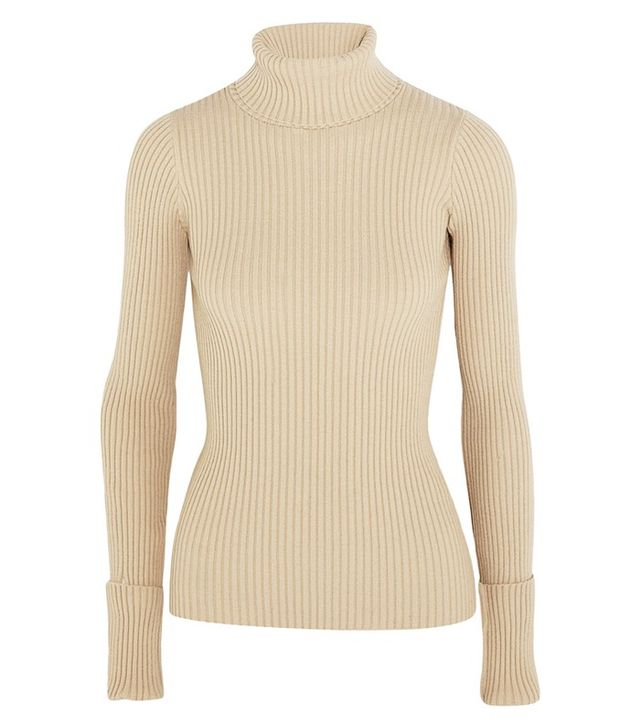 Jacquemus Ribbed Stretch-Knit Turtleneck Sweater