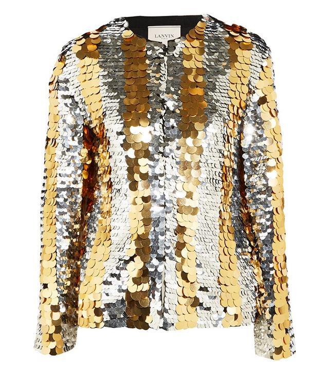 Lanvin Paillette-Embellished Jersey Jacket