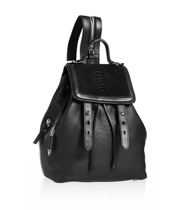 Mackage Tanner Black Leather Backpack