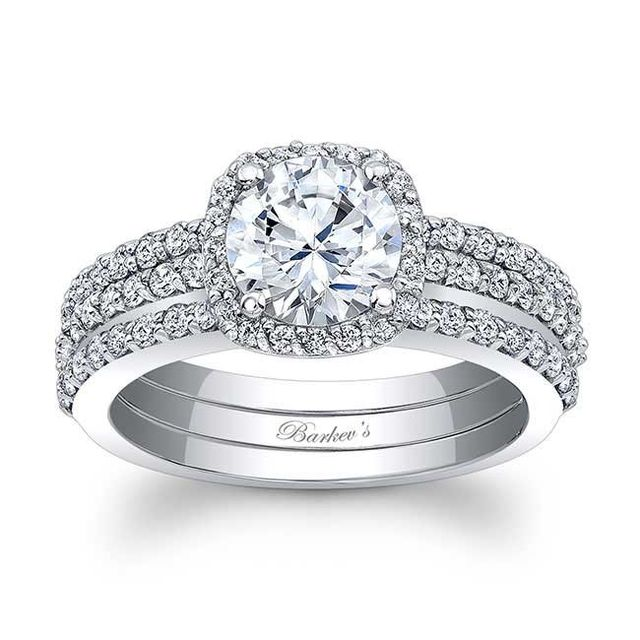 The engagement ring style that will look best on your finger barkevs halo bridal set junglespirit Choice Image