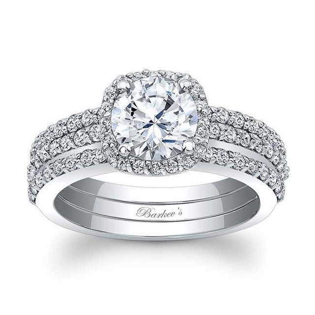 Barkev's Halo Bridal Set