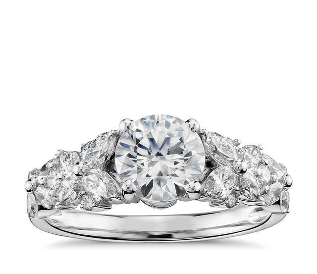 Monique Lhuillier Petal Garland Diamond Engagement Ring