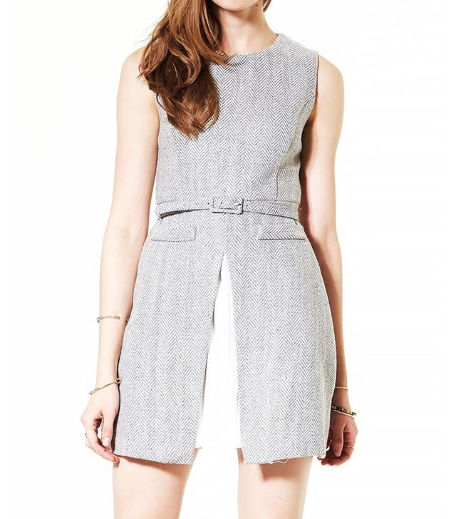 Storets Cut Out Herringbone Dress