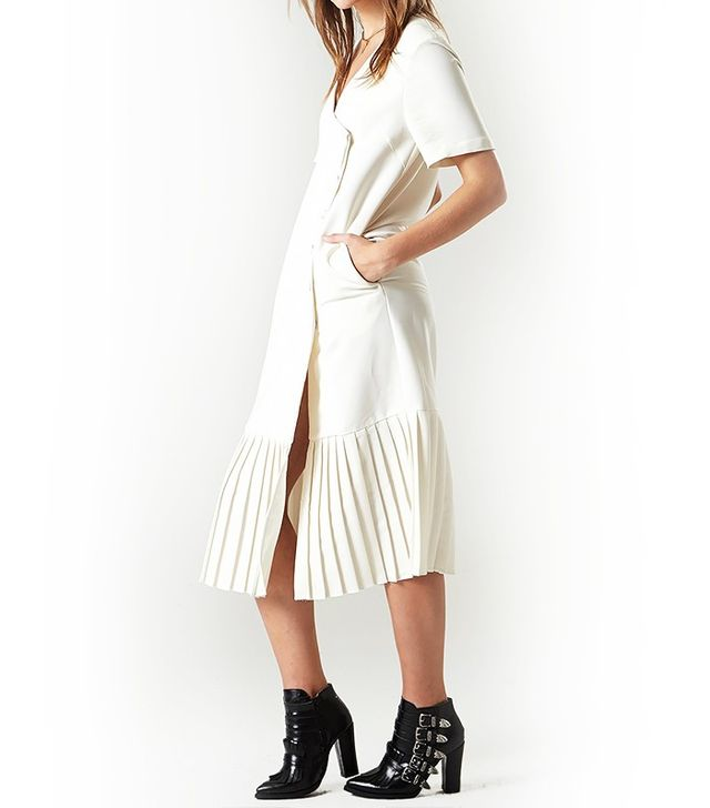 Storets Pleated Double Breasted Dress