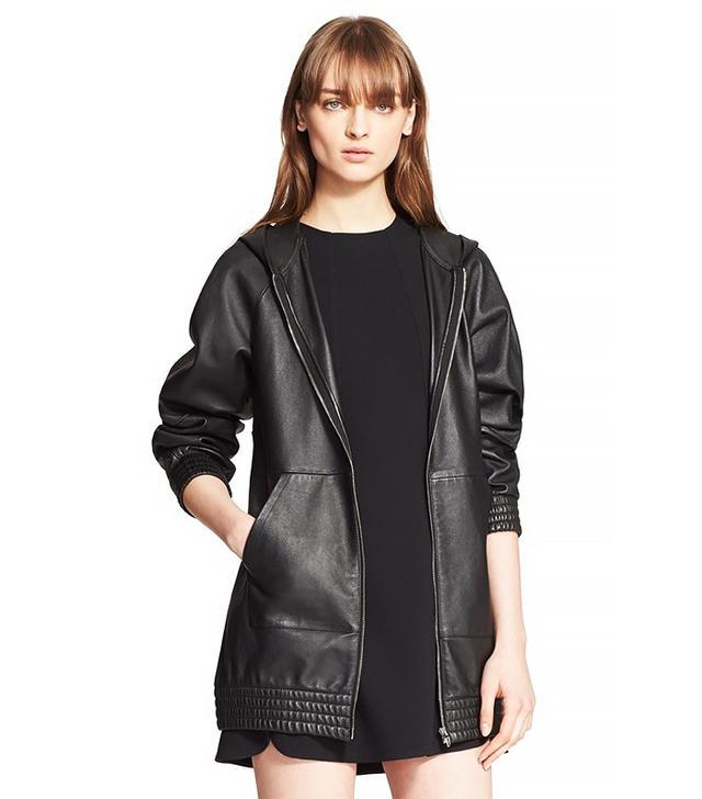 Alexander Wang Oversize Leather Hoodie