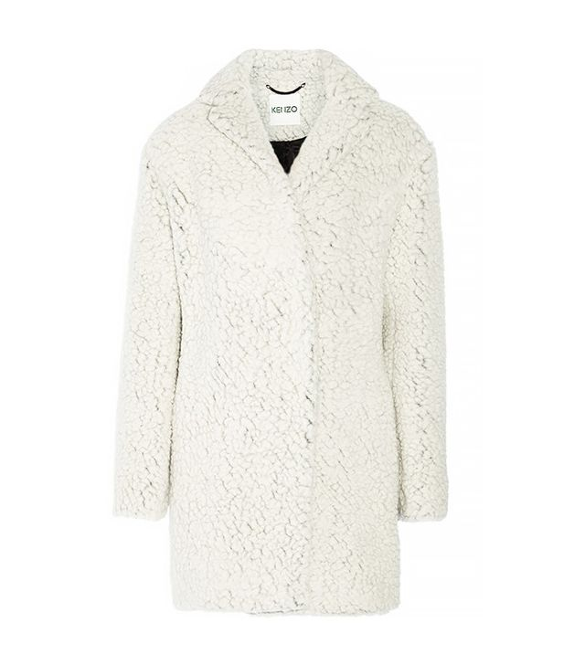 Kenzo Double-Breasted Faux Fur Coat
