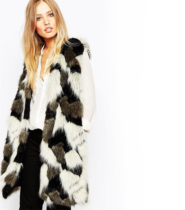 Whistles Patchwork Faux Fur Vest