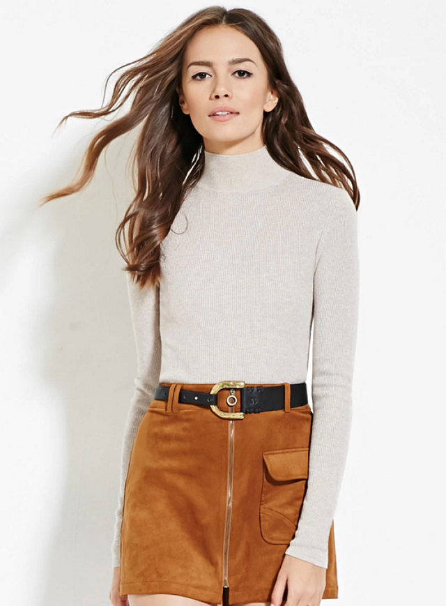 Forever 21 Contemporary Mock Neck Sweater