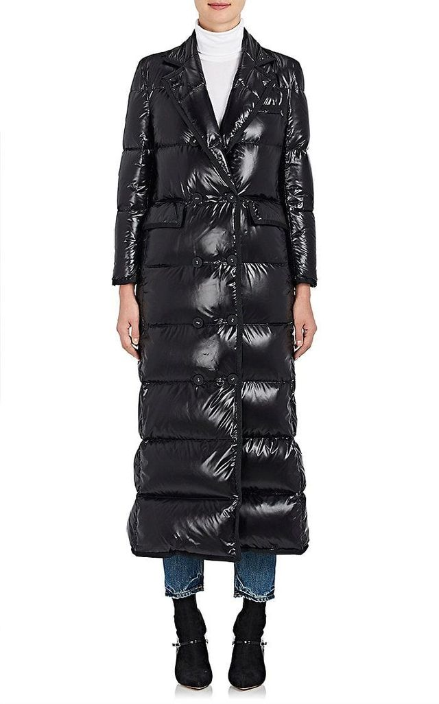 Women's Down-Filled Double-Breasted Puffer Coat