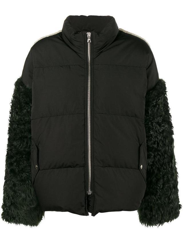 Eldridge shearling sleeve coat