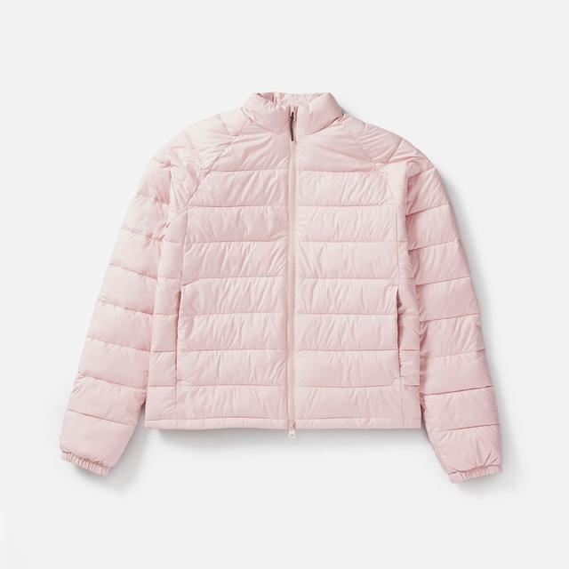 Women's Lightweight Puffer Jacket Coat by Everlane in Rose, Size XXS