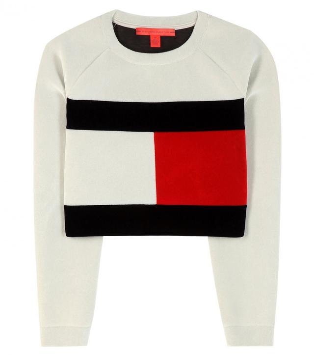 Tommy Hilfiger Flagged Cropped Sweatshirt