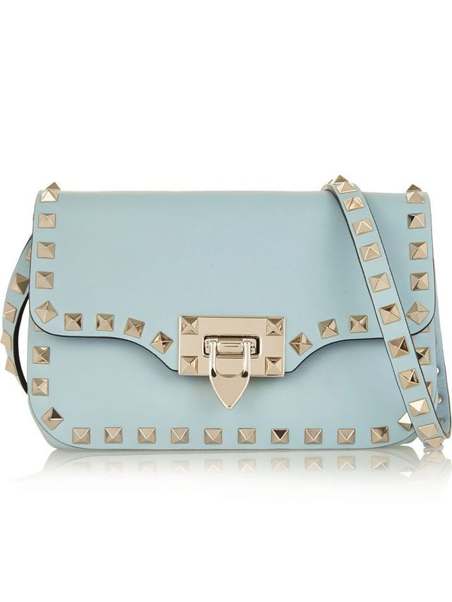 Valentino Rocketed Leather Shoulder Bag