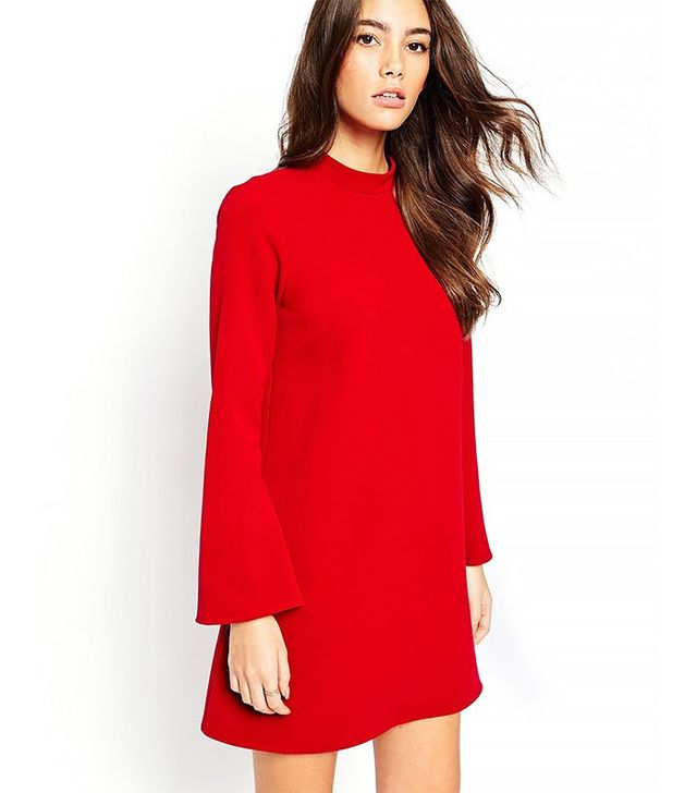ASOS Tunic Dress With Flared Sleeves