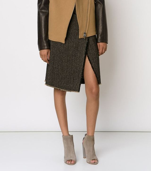 Etro Tweed Wrap Skirt
