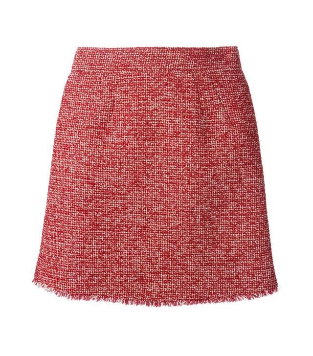 Philosophy Di Lorenzo Serafini Fringed Hem Tweed Skirt