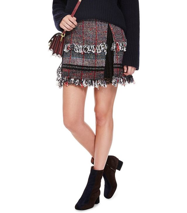 Thakoon Lace Inset Mini Skirt