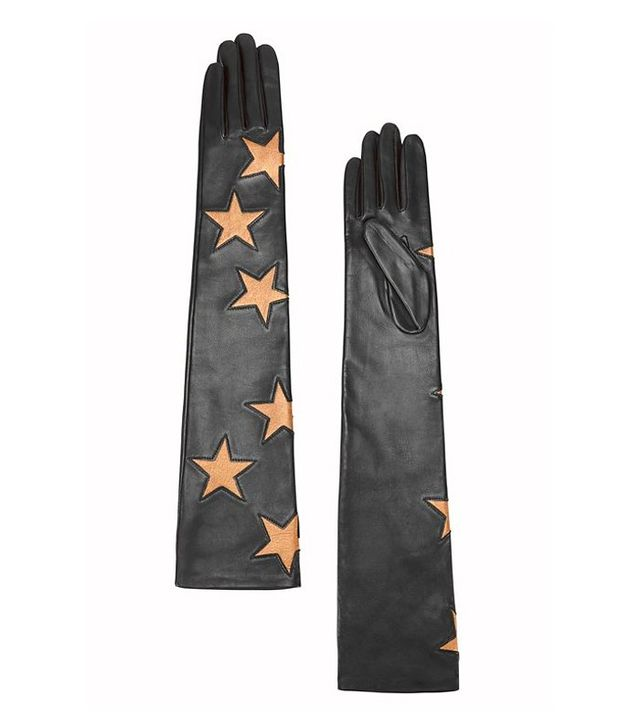 Agnelle Gold Star Long Gloves