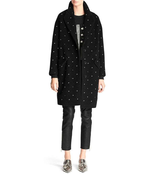 Coach Embellished Teddy Bear Coat