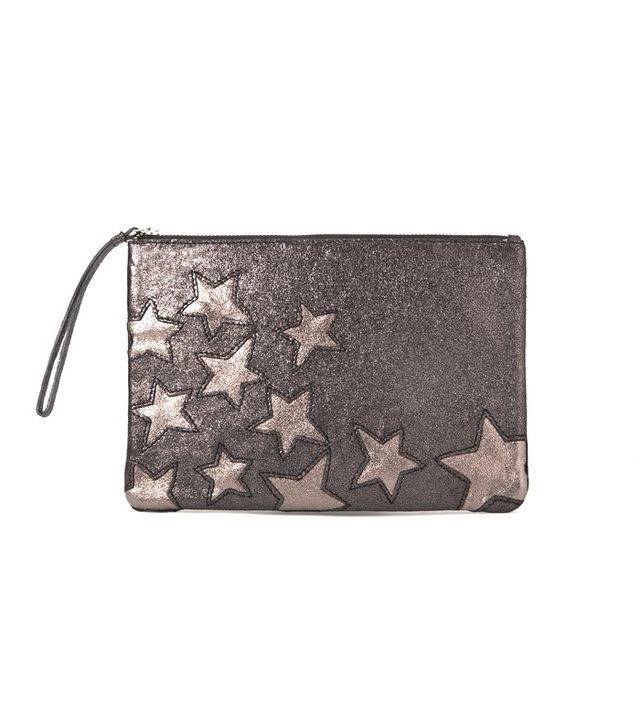 Mango Stars Leather Clutch