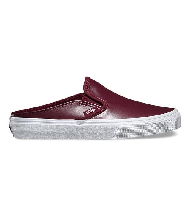 Vans Leather Slip-On Mules
