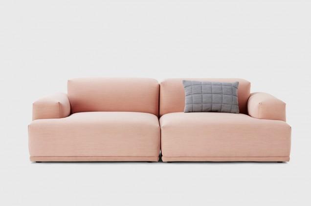 Muuto Connect Modular Two-Seat Sofa in Pink