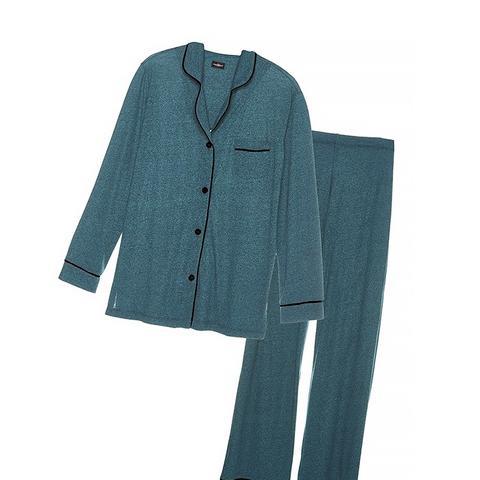 Bella Texture Longsleeve Top & Pant PJ Set